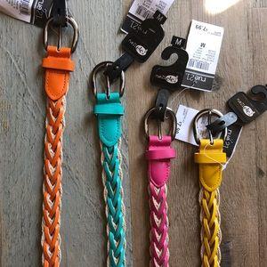 "Summer belt bundle: 4 piece belt lot | Sz M | 42"""